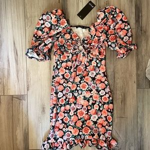 Nasty Gal We've Got to Grow Floral Mini Dress NWT